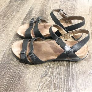 Dansko Black Two Strap Sandals